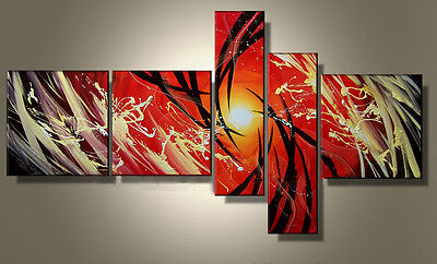 Large MODERN ABSTRACT OIL PAINTING on Canvas Contemporary Wall Art Framed art122