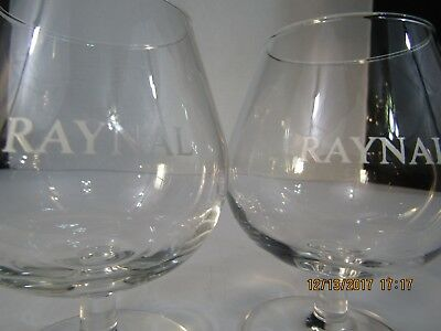 Raynal Brandy Snifters; Set of 2- 8oz;  4.5 in tall:  Each Weighs 4 3/8 oz. New