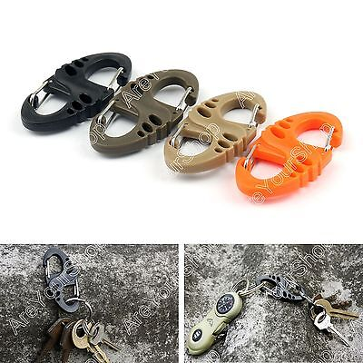 Mini M414 S Buckle Hook Carabiner Lock Tactical Quickdraw 8 Key Ring Multi-Color