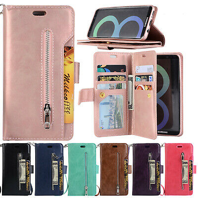 For Samsung Galaxy Note10 Plus S10+ S9 S8 S7 Flip Card Wallet Leather Case Cover