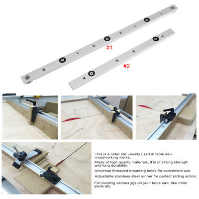"12"" 300mm/18"" 450mm Aluminium Miter Bar Miter Slider Table Saw Miter Gauge Rod B"