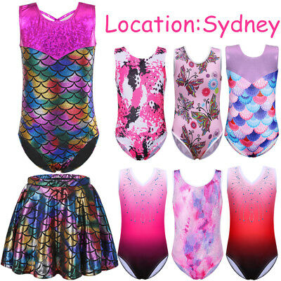 3-14Y Ballet Leotards Dancewear Bodysuit for Girls Gymnastics Sparkle Clothes