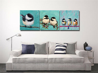 Watercolor Painting Abstract Canvas Print Art Birds Love Home Wall Decor UNFrame