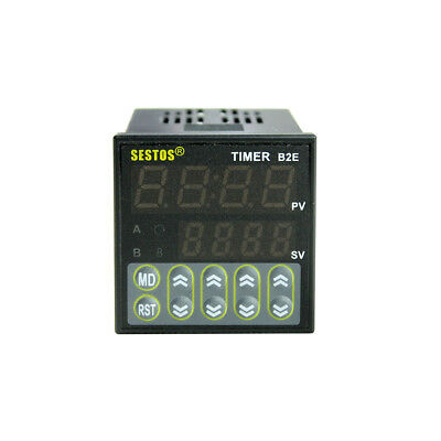 Digital Sestos Twin timer Relay Time Delay  Relay 110v Count Switch B2E-2R-220