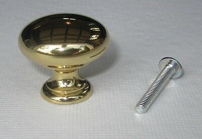 """1 1/4"""" Traditional Solid Brass Kitchen Cabinet Knob Drawer Pulls - Lot of 10"""