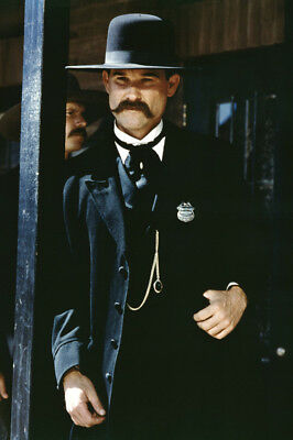 Tombstone Kurt Russell Posing On Porch 24X36 Poster Print