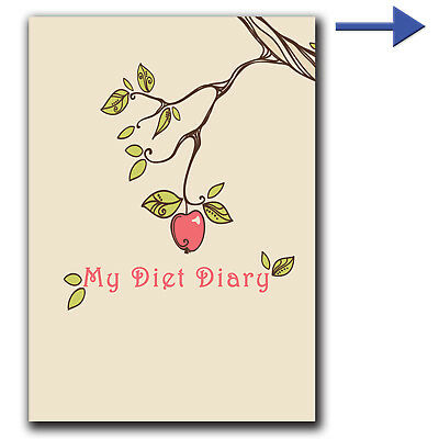 FOOD DIARY, WEIGHT LOSS, DIET, PLANNER, TRACKER, SLIMMING, EXTRA, EASY, beige Tr