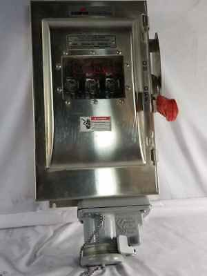 Crouse Hinds  WSRDW6352SMS901 Fusible Heavy Duty Safety Switch 60A 600VAC Stain