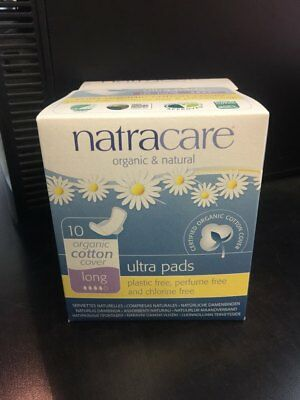 Natracare Organic Cotton Ultra Pads long with Wings 10 ea