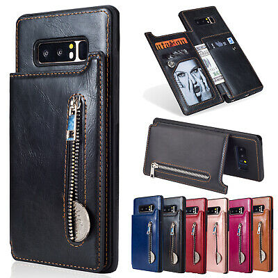 For Samsung Galaxy Note 9/S9/S8 Leather Wallet Card Holder Stand Back Case Cover