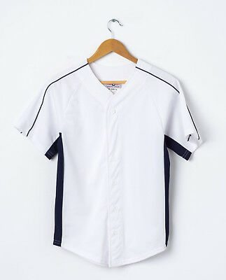 0 VTG Youth Baseball Jersey in White Size L Large 34/36 Boys Kids Shirt
