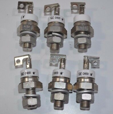 Lot of 6 GE Thyristor Diode Rectifiers SCR Model# C45D