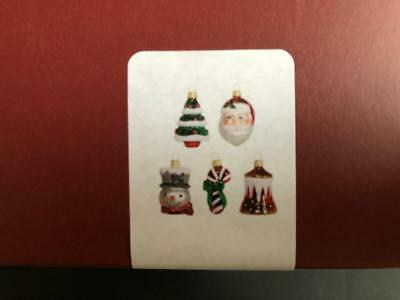 NEW 5 Hallmark 2017 SYMBOLS OF THE SEASON Mini Ornament Blown Glass Miniature