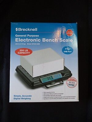 Salter-Brecknell GP250 Electronic 250lbs Capacity Portable Bench Scale with LCD