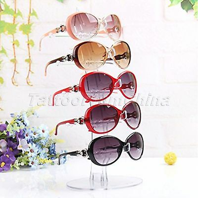 5 Pairs Sunglasses Glasses Showing Rack Counter Display Stand Holder Organizer