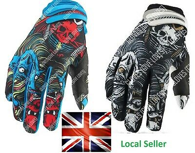 No Fear Monster Cycling Gloves Fishing Motorcycle Motocross Bike, Fox 661 100%
