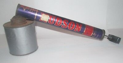 Vintage 1955 Hudson Sprayer / Duster - With Plunger And Metal Can