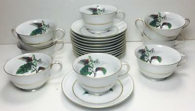 10 sets MINT Craftsman China Imperial Cup and Saucer Set  #168 JAPAN