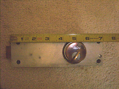Vintage manual timer mortise door lock with cylinder lock and key Yale