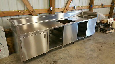 New Custom made stainless steel beverage counter with free shipping.