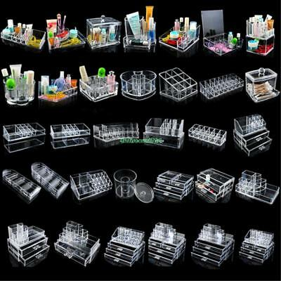 Acrylic Cosmetic Organizer Makeup Boxes Drawer Holder Jewelry Clear Storage Case