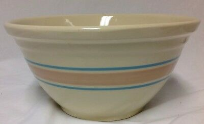 Ovenware USA #12 Large Farm Mixing Bowl Striped Banded