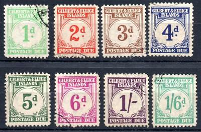 Gilbert and Ellis Islands Postage Due 1940 set  fine used   Sg D1/D8 cat £275