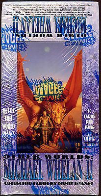 Vintage: OTHER WORLDS: MICHAEL WHELAN II Art Trading Cards. Unopened box.