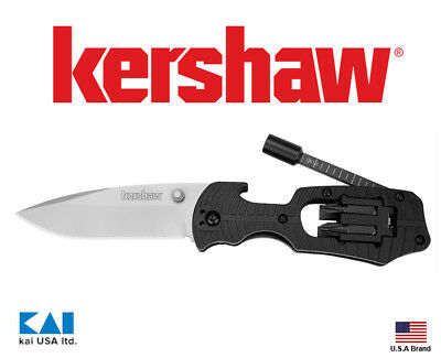 """Kershaw Knives 1920 Select Fire Folding Knife 3.4"""" 8Cr13MoV Blade With 4 Bits"""
