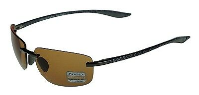 POLARIZED SERENGETI ROTOLARE Carbon Fibre Black PHD Drivers Lens Sunglasses 7729