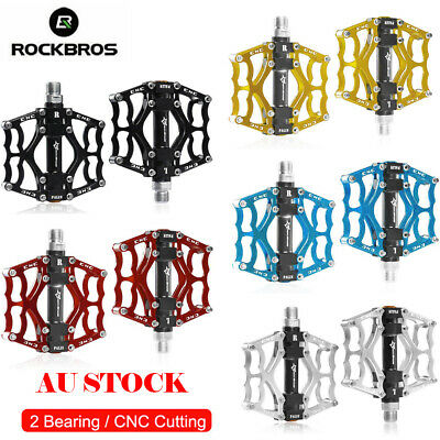 ROCKBROS Pedals Flat/Platform For MTB Bike Bicycle Three Bearing Pedals 9/16""