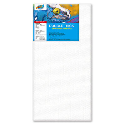 """Artoys Studio Blank Canvas Double Thick 18x36"""" (45.7x91.4cm) 340gsm 35mm Thick"""
