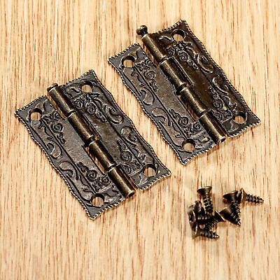 Vintage Door Hinges Furniture Jewelry Box Hardware Wardrobe Cabinet Hinges 10pcs