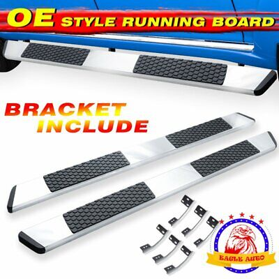 "Fit 09-18 Dodge Ram 1500 Crew Cab 5/"" Running Boards Nerf Bar Side Step S//S A"