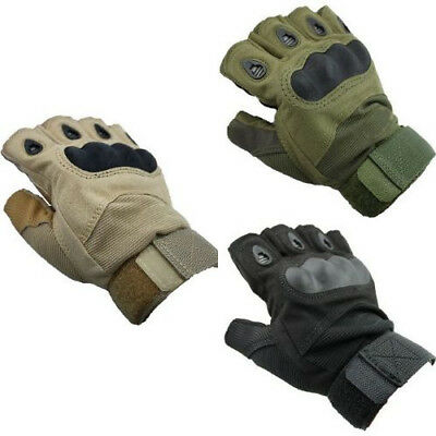 BRAND NEW GREEN Tactical Gloves Army Outdoor Sports Youth Batting Fingerless Gea