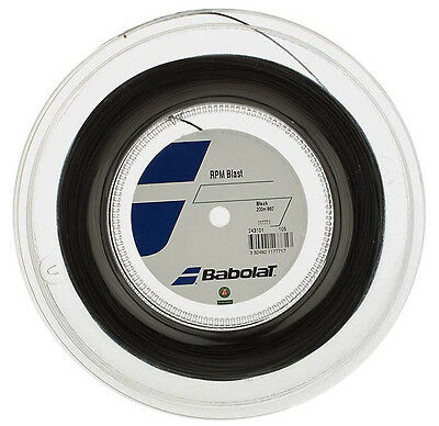 Babolat Rpm Blast Tennis String - 1.20mm/18G - Black - 200m Reel - Free UK P&P