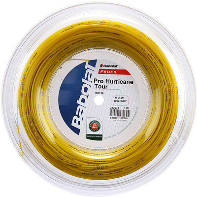 Babolat Tennis String - Pro Hurricane Tour - 200m Reel -  1.25mm/17G - Yellow