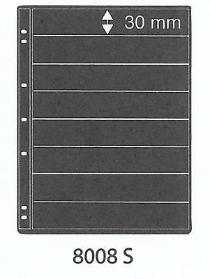 PRINZ PRO-FIL 8 STRIP BLACK STAMP ALBUM STOCK SHEETS Pack of 15 Ref No: 8008S