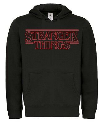 FELPA STRANGER THINGS hoodie Netflix Horror Mike Eleven Dustin Serie Tv Telefilm