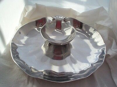 Ann Kary 2 pc Pewter Chip & Dip Clamshell Bowls ~ Dishes