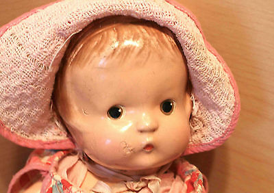 """Adorable vntg composition PATSY F&B Effanbee doll 13"""" to love as is or to repair"""
