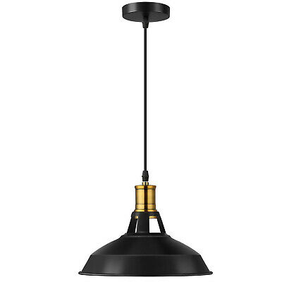 Vintage Industrial BarnSlotted metal Lampshade Edison MetalHanging pendant Light