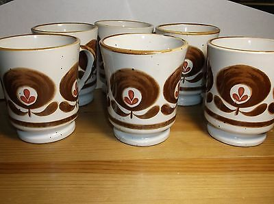 Stoneware Coffee Mug Cup MCM MOD SET -Vintage Korea Pottery Art Deco Lot