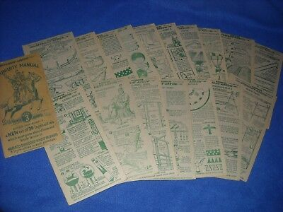 Lot of 22 Nabisco Shreded Wheat INJUN-UITY MANUAL cards from Book 2, c. 1950