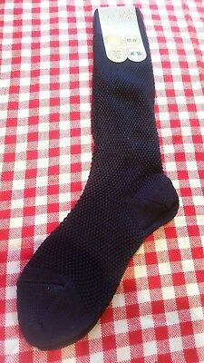 Childs Vintage 1970s sock BNWT Blue Nice Quality  Socks EU27-30 UK10-12jr Retro