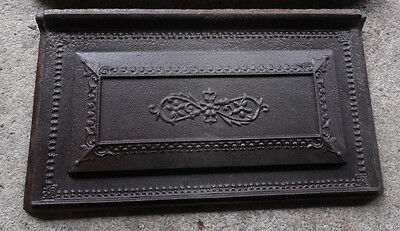 Cast Iron Wood Coal Stove Panel Antique Ornate Floral 117-GLO-LH Brown