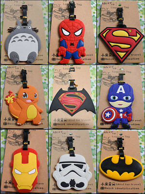 Anime Cartoon Luggage ID Tags Labels NAME ADDRESS ID SUITCASE Bag TRAVEL Tag