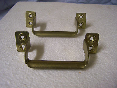Vintage Door,Gate,Sash,Trunk Pulls, Lifts, Handles Brass Plated Steel Qty. 2