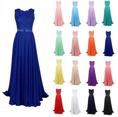 2017 Long Lace Evening Formal Party Ball Gown Prom Bridesmaid Dress Size 6-20++