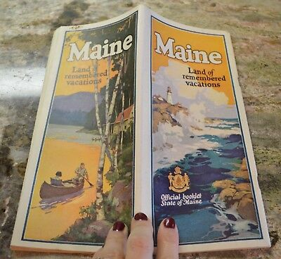 Vintage c1930 Official State promotional pictorial booklet of Maine